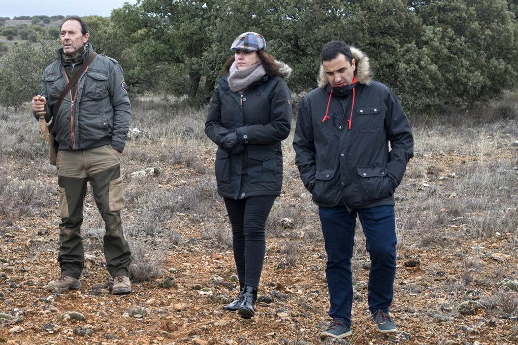Óscar Velasco y su mujer Montserrat Abellà no quisieron perderse la búsqueda de trufas.