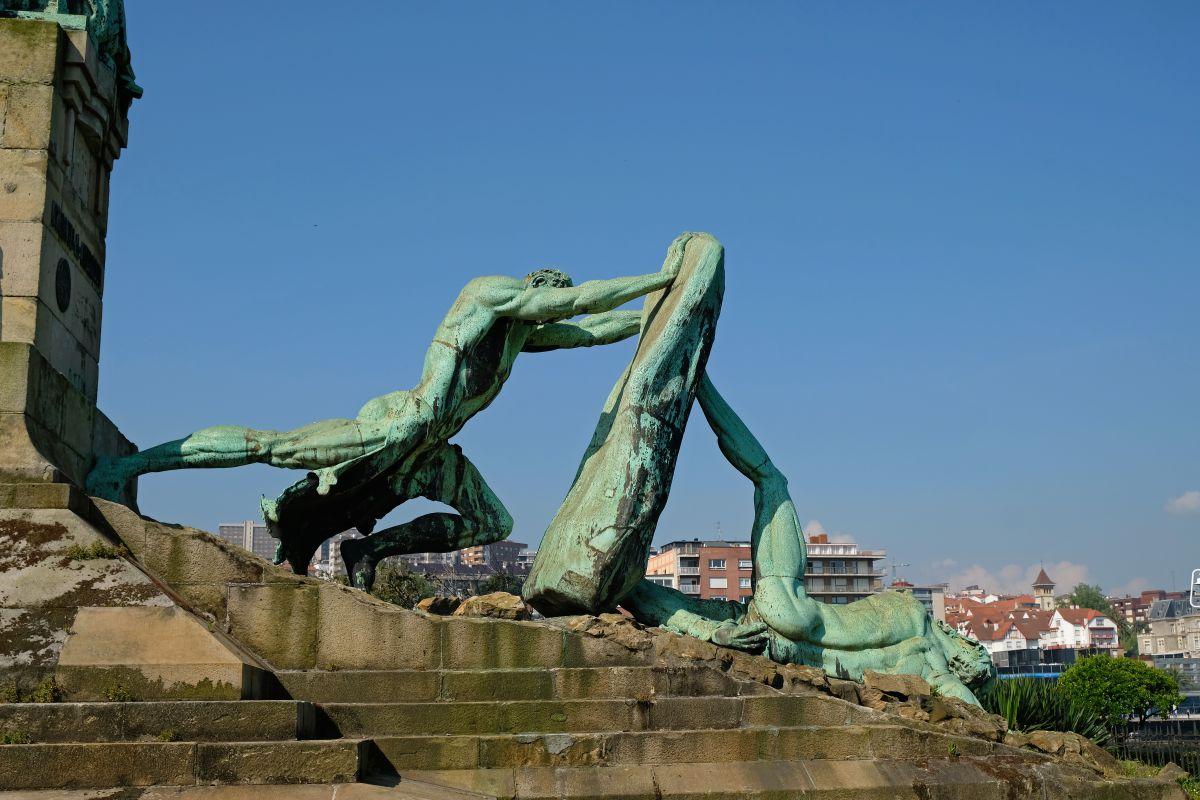 El monumento a Evaristo de Churruca, en Getxo (Vizcaya).