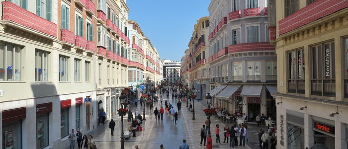Calle Larios. Foto: Área de Turismo del Ayuntamiento de Málaga.