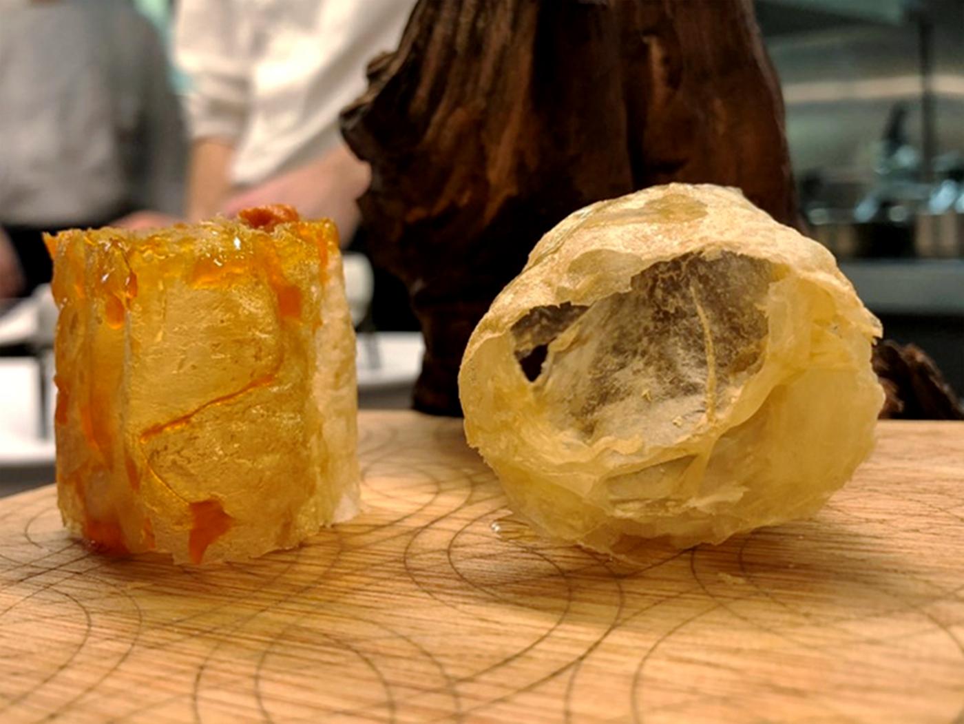 El hojaldre sin gluten que elaboraron los chefs de 'Disfrutar'. Foto: Disfrutar.