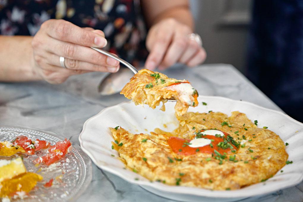Tortilla de patatas del restaurante Gigi. Foto: Roberto Ranero