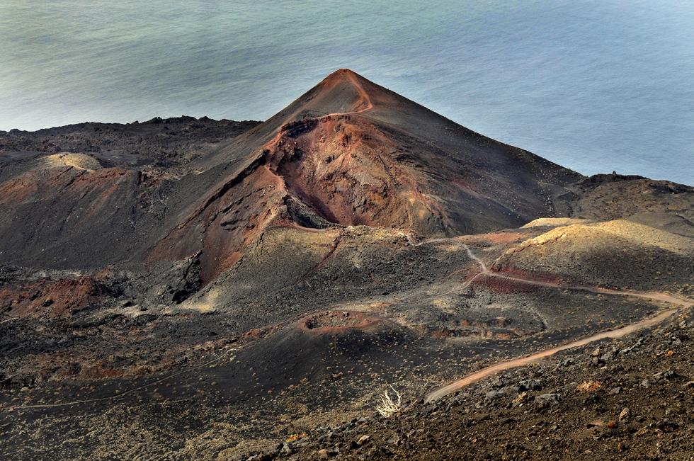Este volcán está a 439 metros sobre el nivel del mar y explosionó en 1971. Foto: Alfredo Merino.