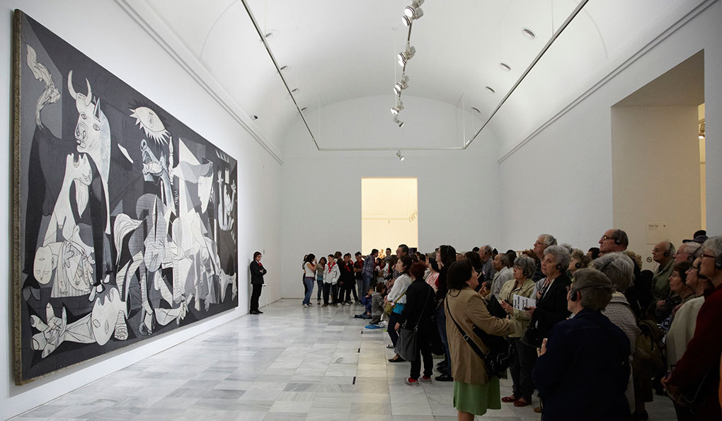 El 'Guernica', de Pablo Picasso, expuesto en el Museo Reina Sofía. Foto Cedidas.