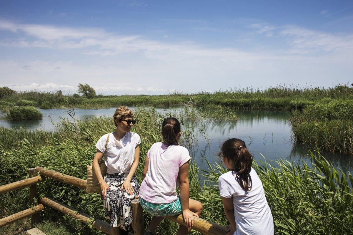 El ullal se encuentra en el Parque Natural de la Albufera.