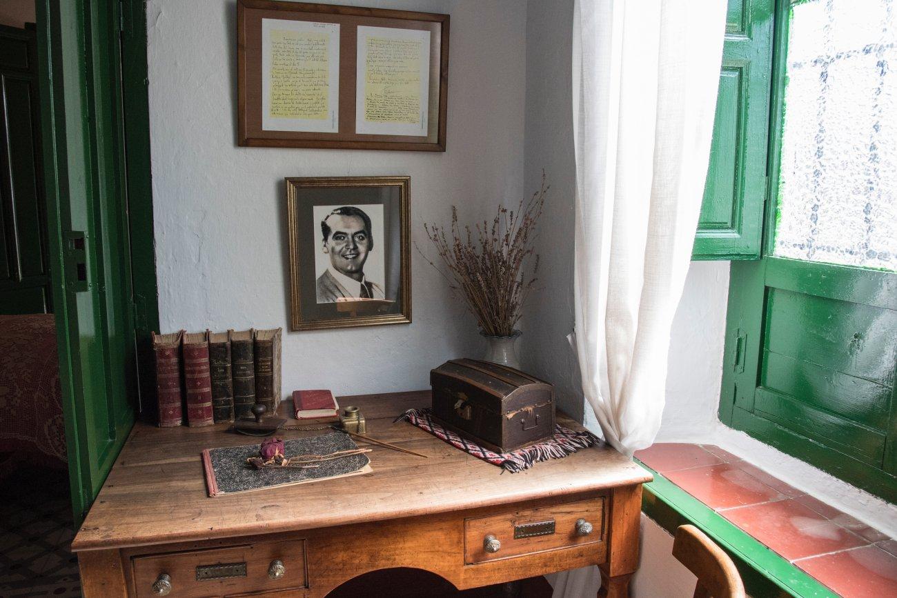 García Lorca. Valderrubio. Casa Museo de Federico García Lorca (escritorio)