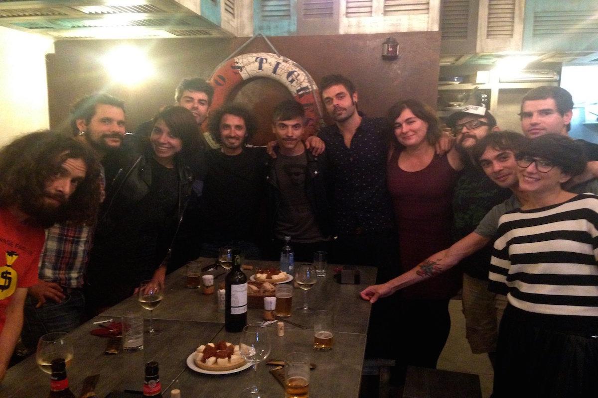 La banda Dorian en el 'Os Tigres Rabiosos' (A Coruña).