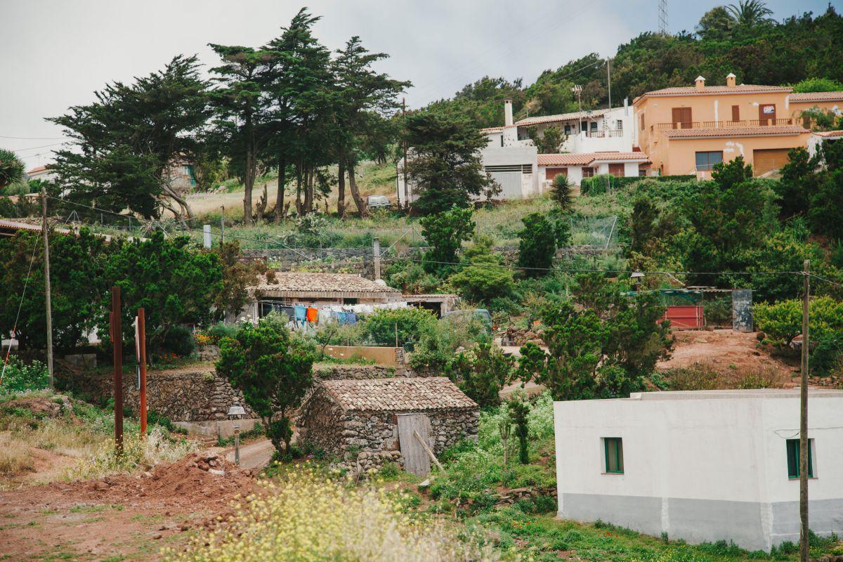 Vista del pueblo de Los Bailaderos, en el parque rural de Teno, en Tenerife.