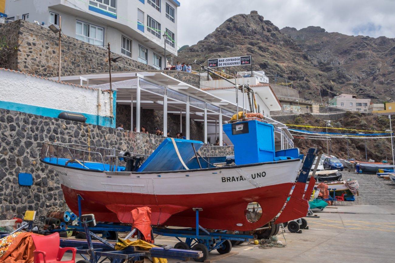'Cofradía de pescadores' (Punta del Hidalgo): barcas