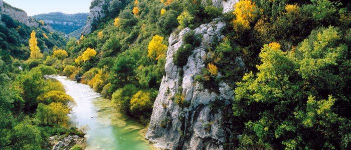 Foz de Ugarrón en el cauce del río Areta.