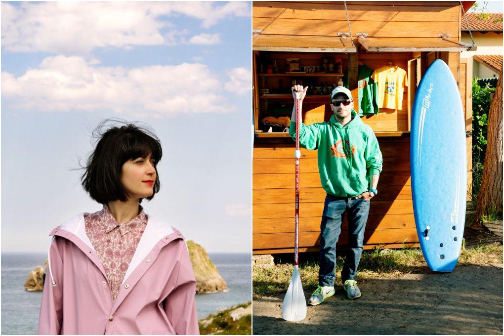 La artista y cantante Helena Toraño y el experto en paddle surf Roberto Llamedo.