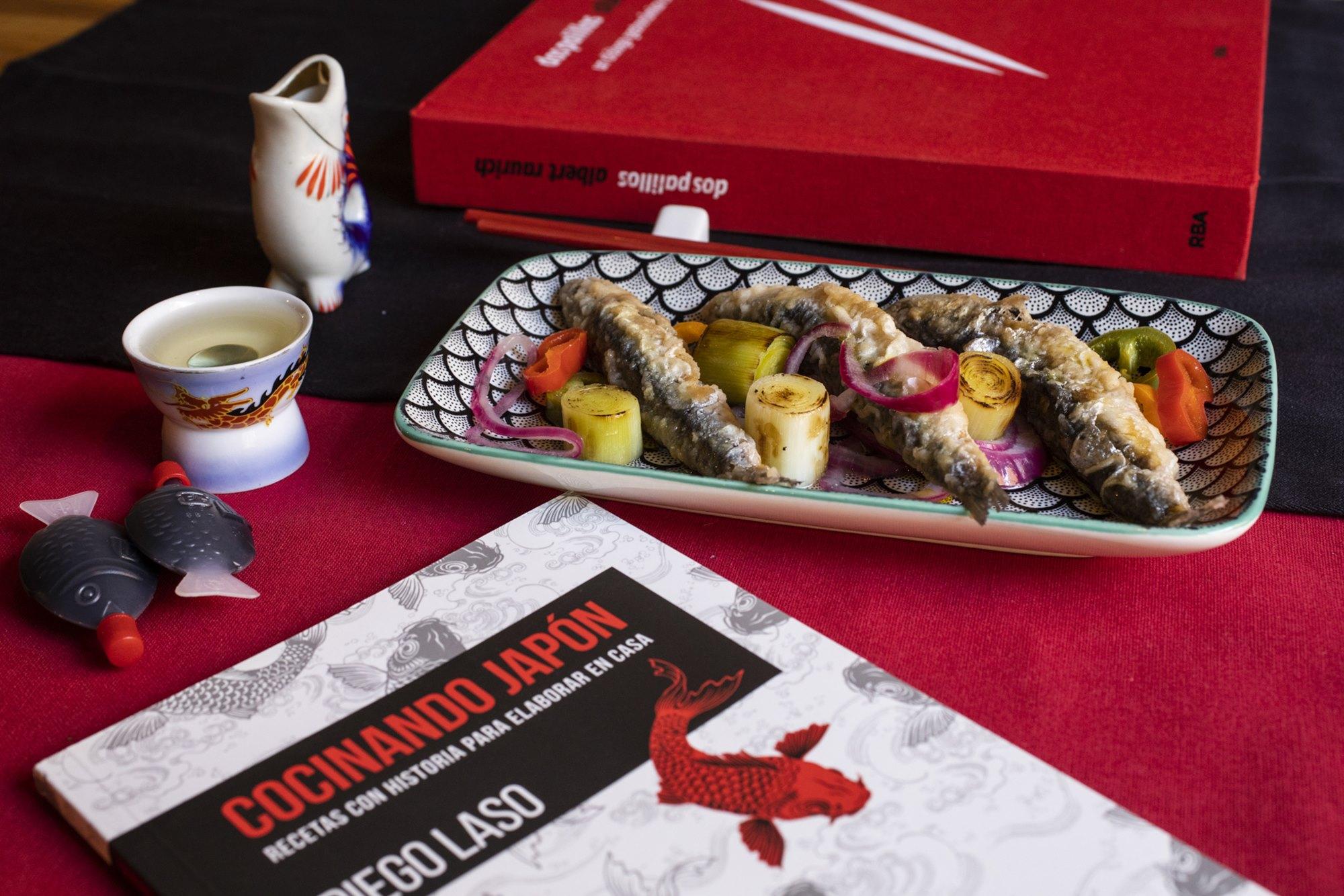 'Cocinando Japón', del chef Diego Laso y 'Dos Palilos', de Alber Raurich, inspiran este escabeche de boquerón.