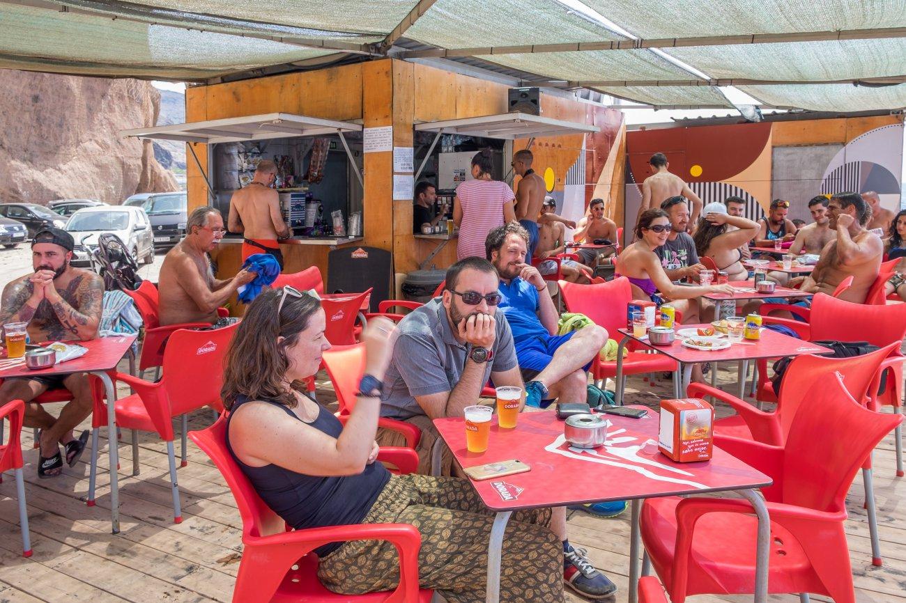 'Kiosco Kraken' (Playa de Las Gaviotas): clientes