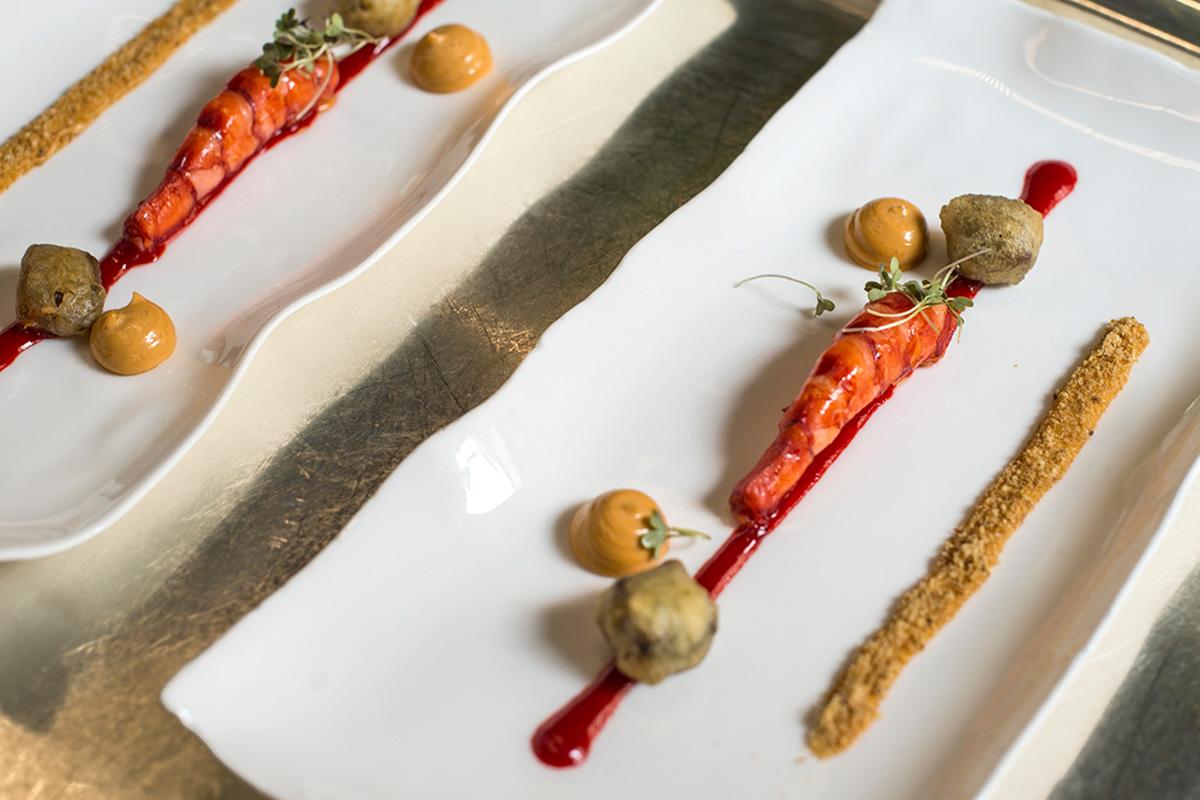 El carabinero forma parte del ecléctico menú de Atrio.