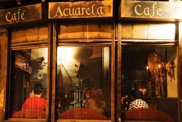Un café de toda la vida. Foto: Acuarela - Facebook.