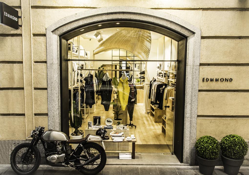 Fachada de la tienda Edmmond, en Madrid. Foto: Edmmond