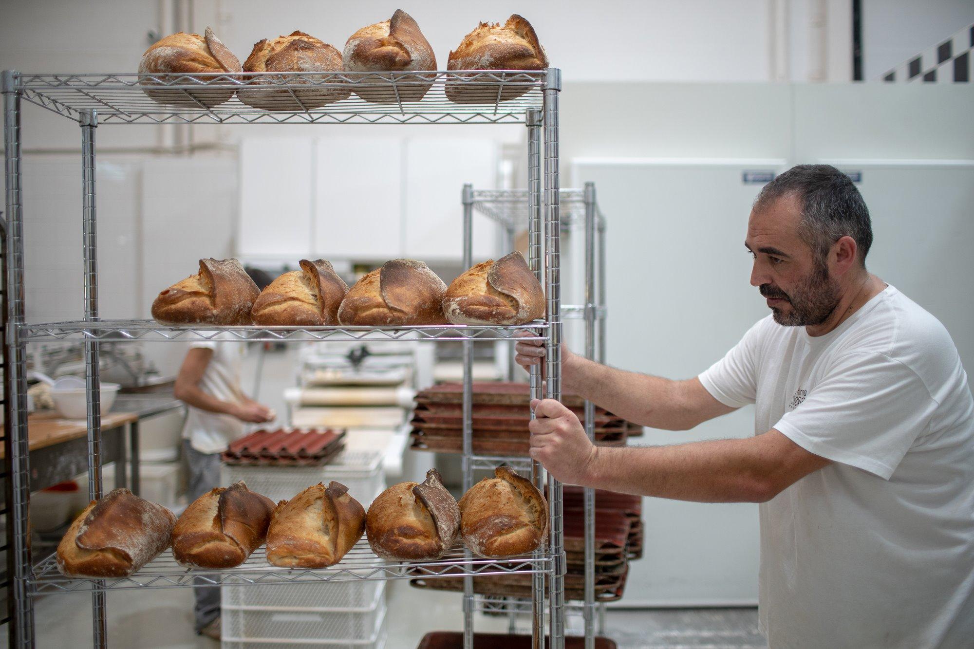 Los panes, elaborados con masa madre, listos para la venta.