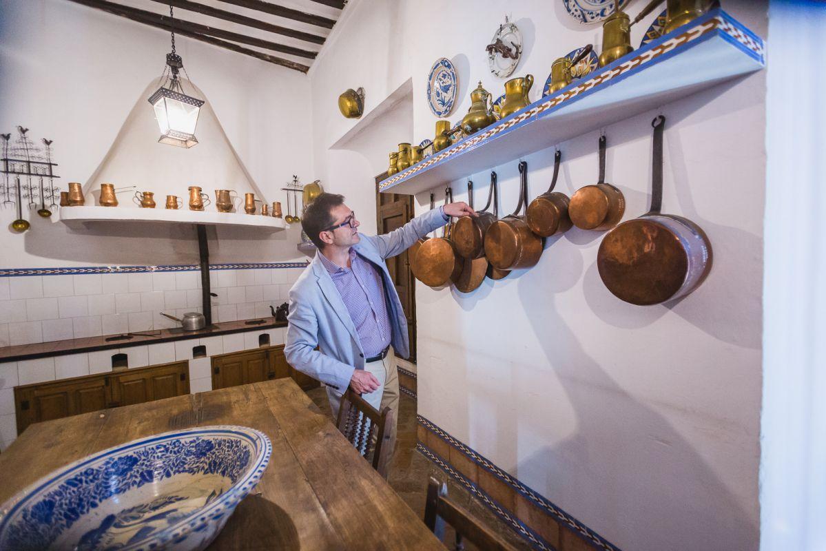 En la cocina campera el II Marqués de Salamanca solía contar sus batallitas al servicio.