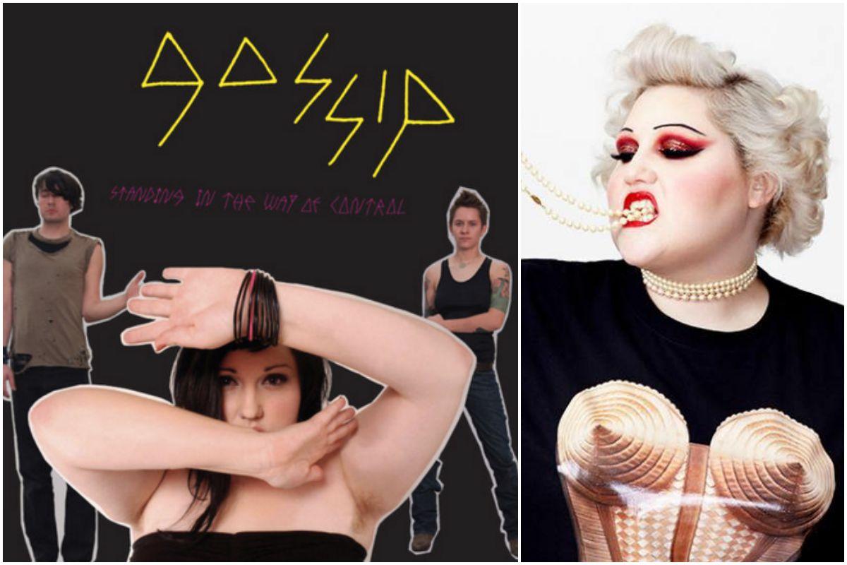 Portada del disco de Gossip y una foto reciente de la artista. Fotos: Facebook.
