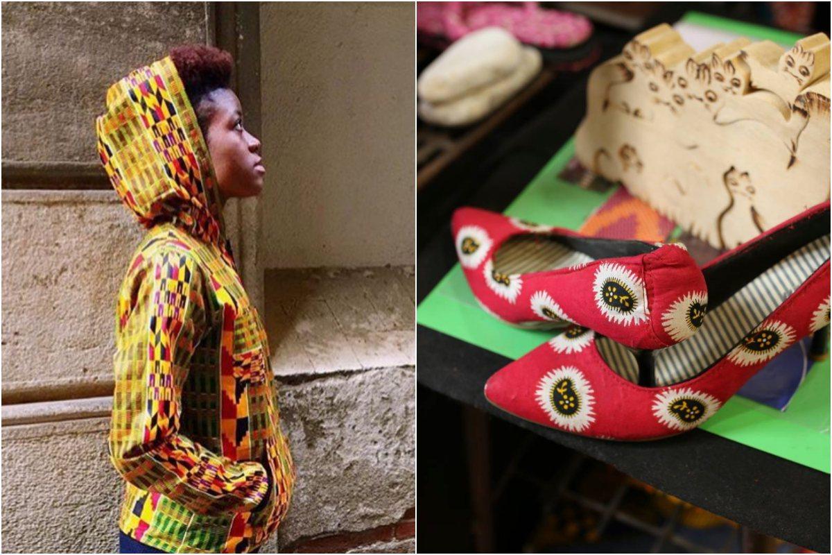 Todos los tejidos los traen directamente de Ghana. Foto: Instagram