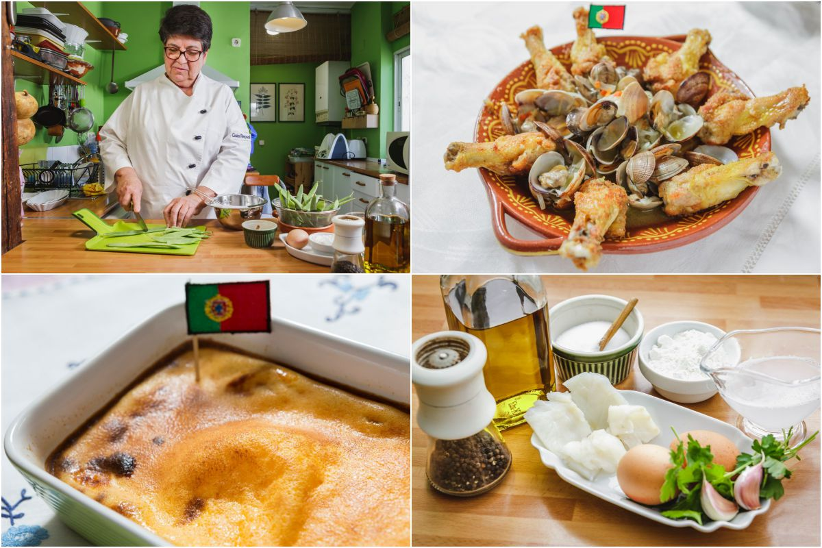 Rosa Tovar y varias de las recetas portuguesas.