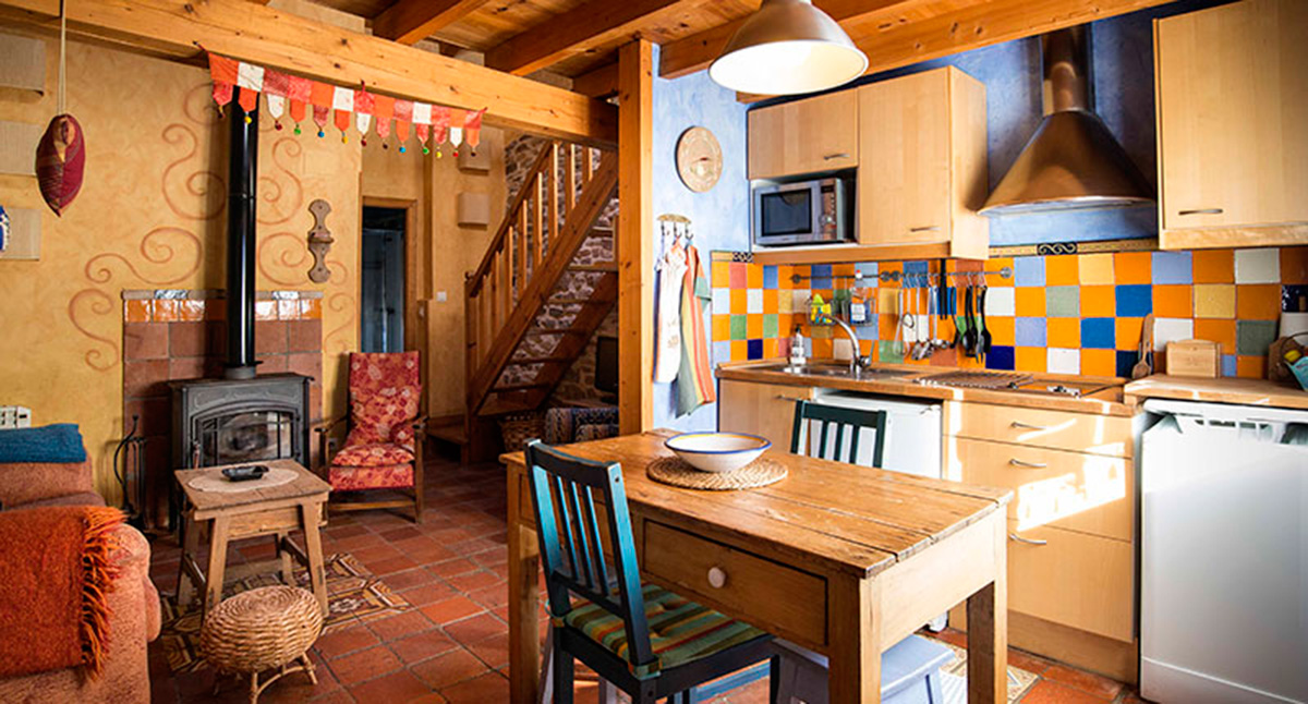 Interior de Casa Zalama, en la provincia de Burgos. Foto: Casa Zalama
