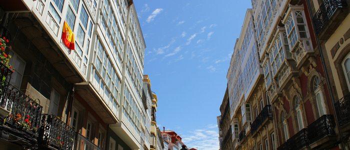 Calle Real, A Coruña. Foto: Flickr, Elentir.