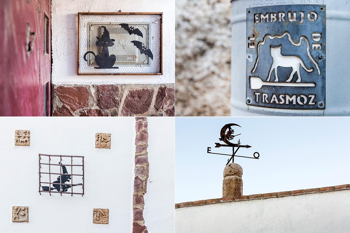 Trasmoz: Detalles en el pueblo que recuerdan su relación con la brujería. Foto: Ferrán Mallol