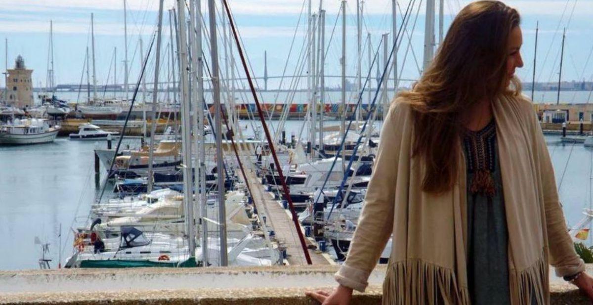La cantante Niña Pastory en el Puerto Sherry, del Puerto de Santa María.