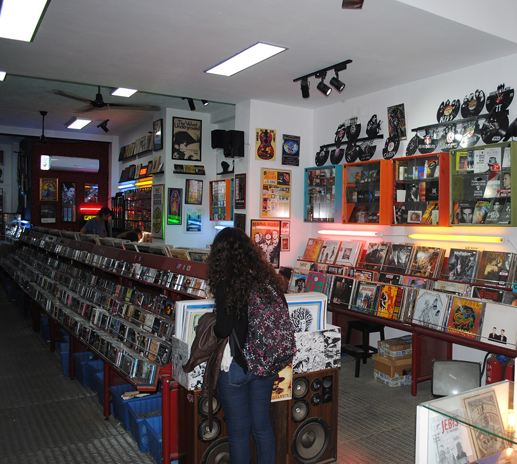 Si te gusta la música, tienes que entrar aquí. Foto: Mamadú Dabó.