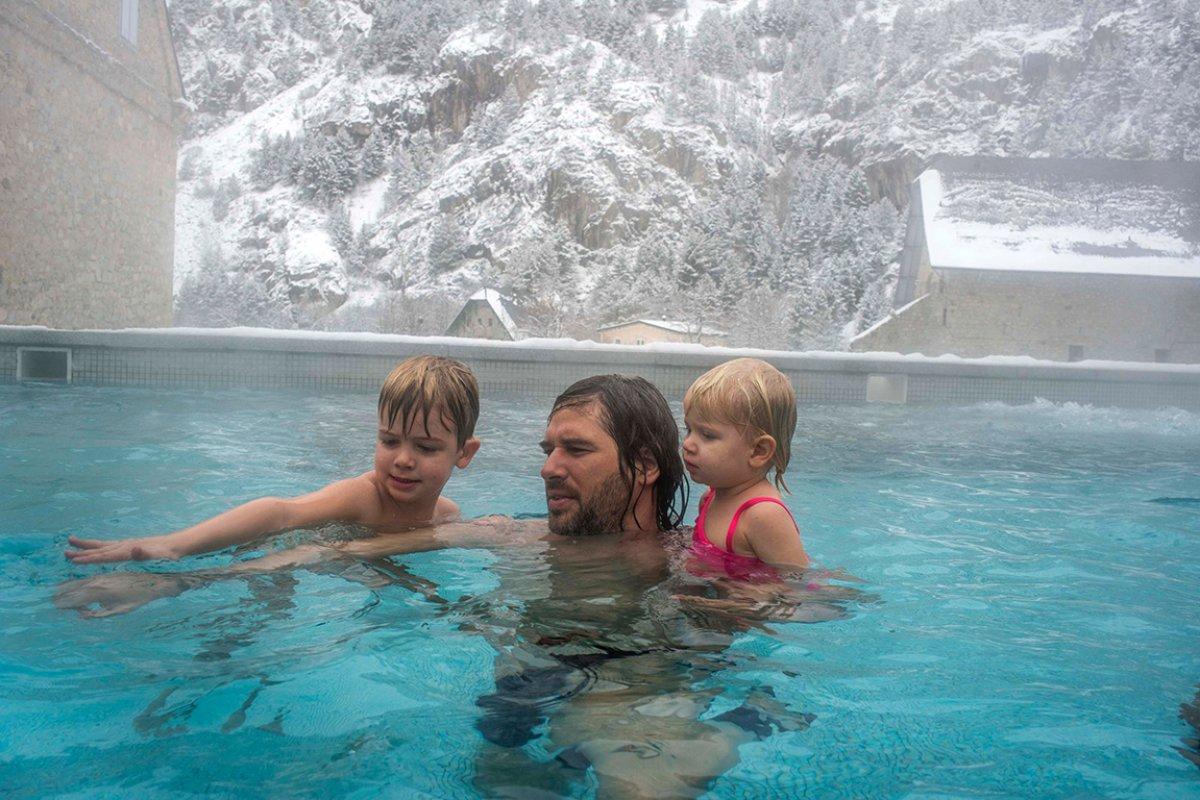 Según los responsables del balneario, las termas tienen propiedades para tratar algunas dolencias.
