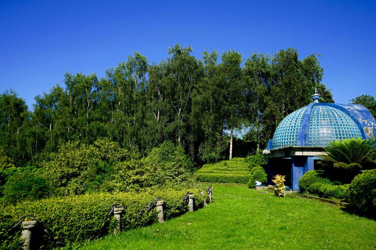 El parque de la Fonte Baixa, en Luarca, Asturias.