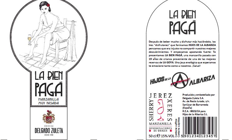 Etiquetas de La Bien Pagá.