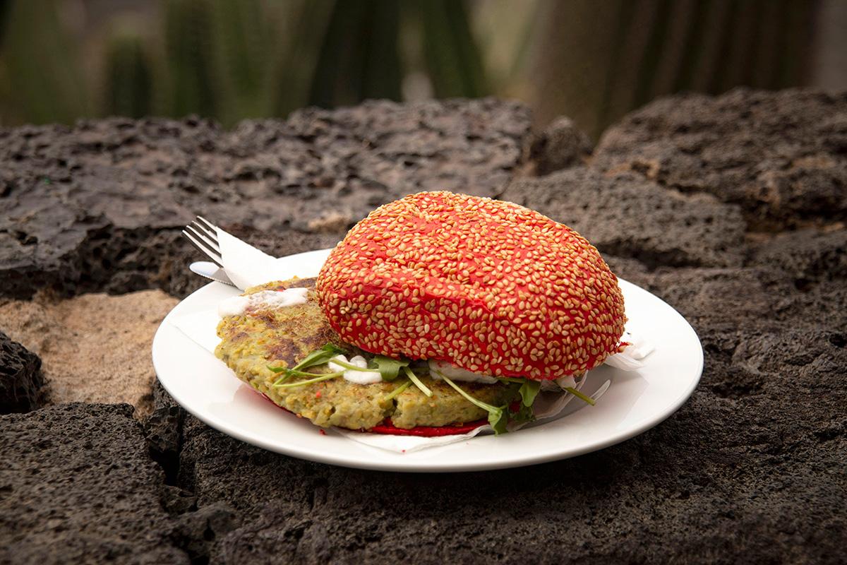 La hamburguesa de cactus, la especialidad del restaurante.