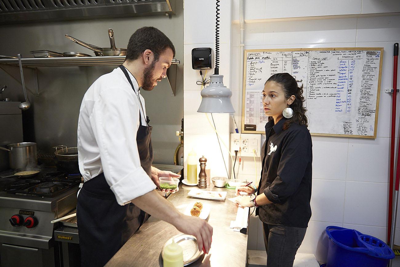 Oriol Casals, jefe de cocina del restaurante 'Teoric'.