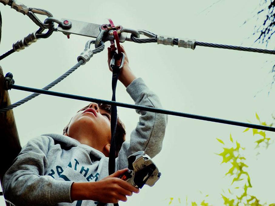 Aventura y emociones fuertes para los más pequeños. Foto: Forestal Park Guadarrama.