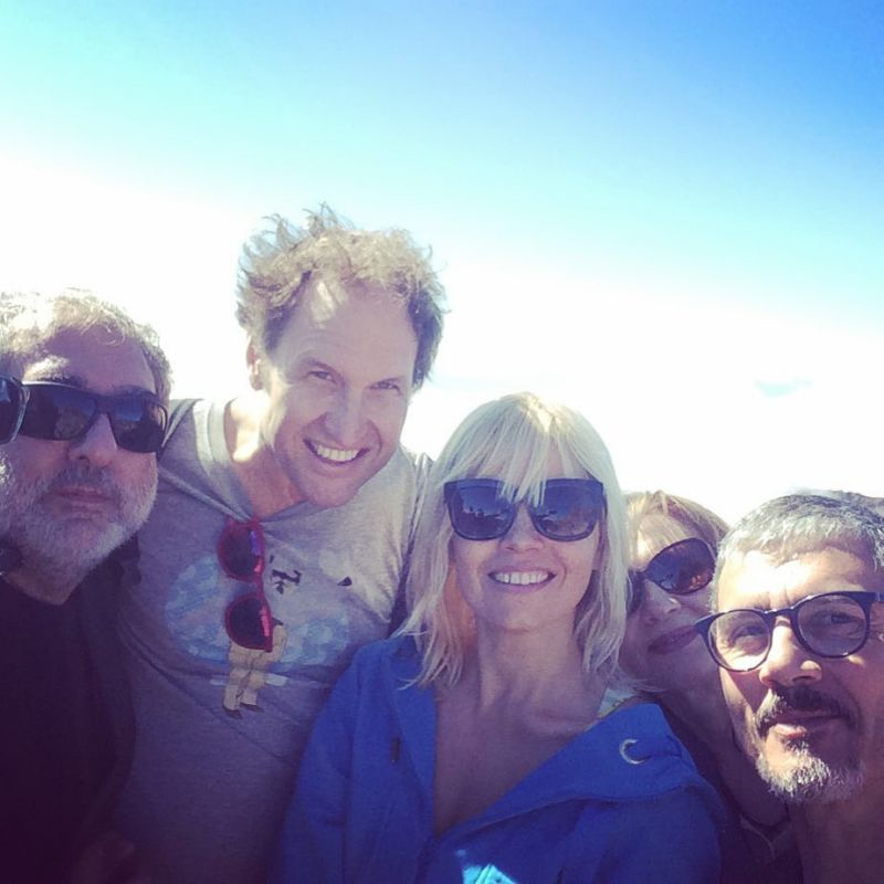 Con el equipo de trabajo en La Palma, la isla bonita. Foto: Instagram.