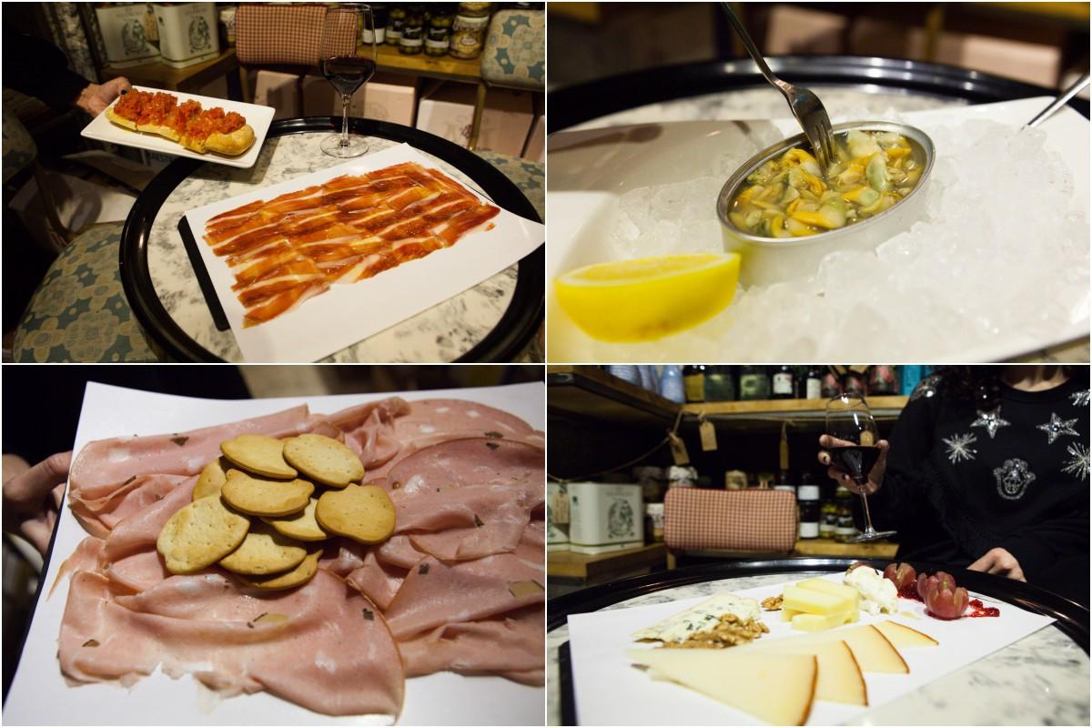 Platos de la tienda 'Alimentación Quiroga' (Madrid)