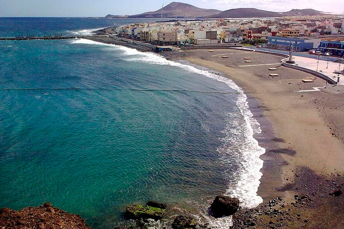El Burrero es la playa favorita en Ingenio. Foto: Turismo de Ingenio