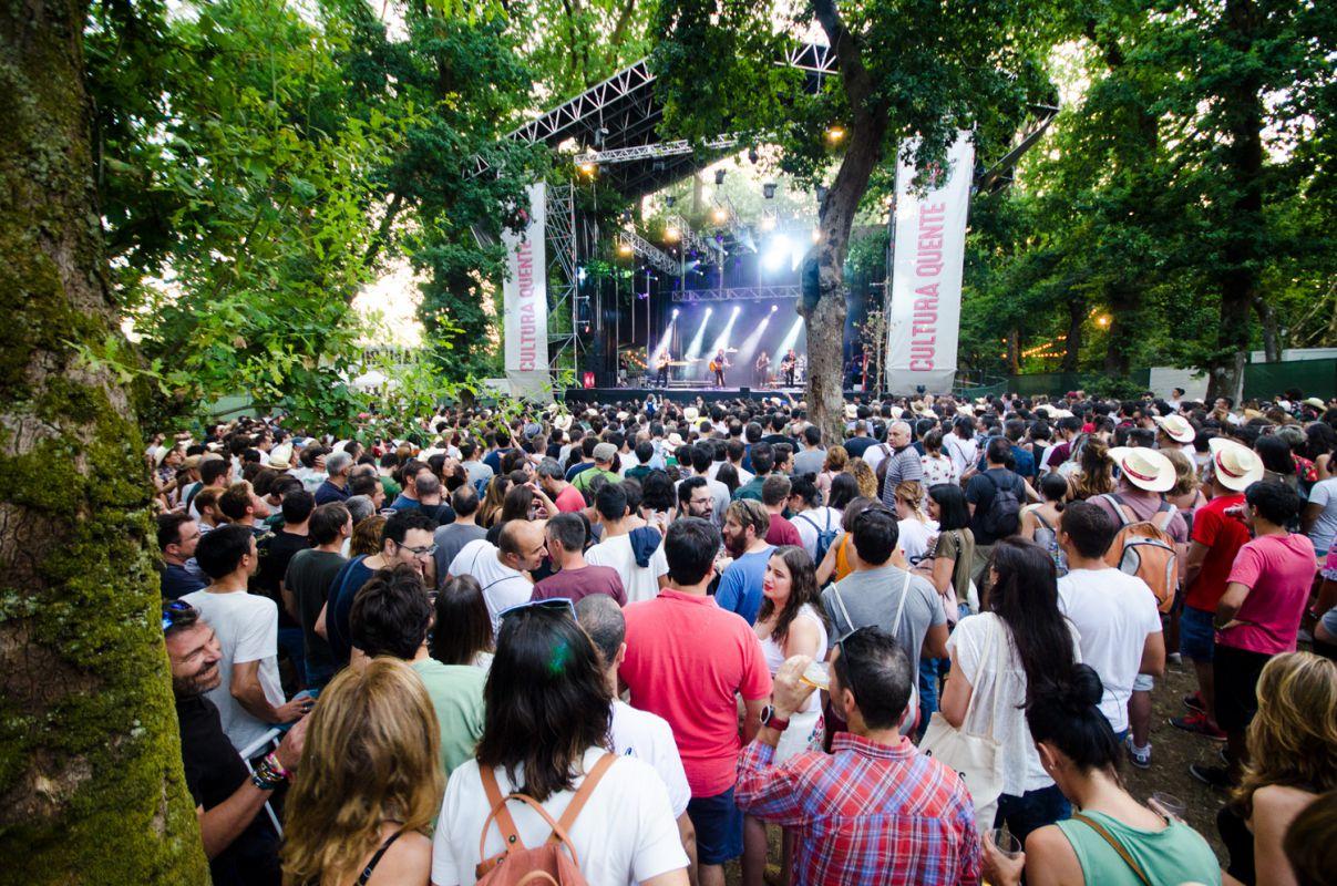 Ambiente durante los conciertos en el festival PortAmérica 2017 en Caldas de Reis, Pontevedra. Foto: PortAmérica.