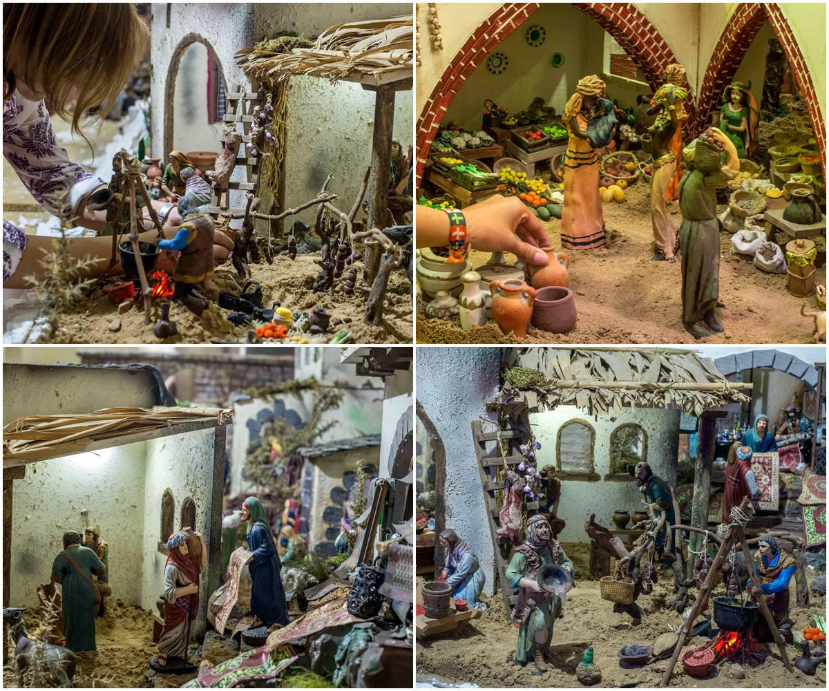 Las figuras son de escayola y marmolina. También hay unas flores de porcelana de Lladró, creación de Isabel Granado.