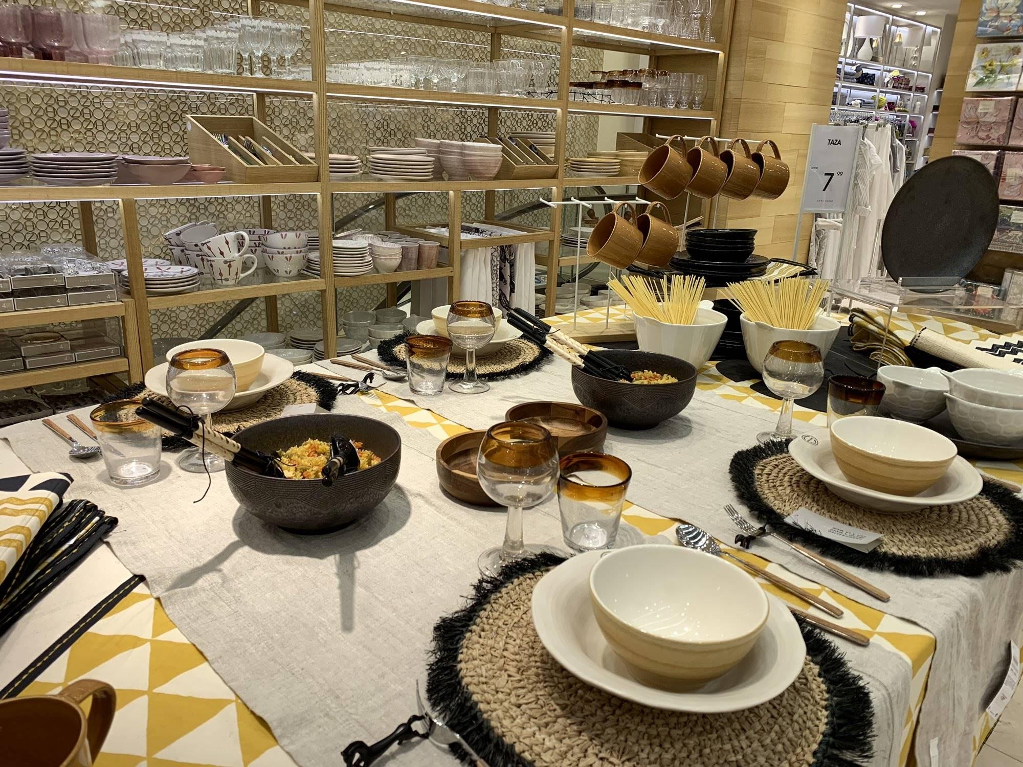 Dentro de la decoración del hogar, 'Zara Home' dedica mucha atención a la mesa.