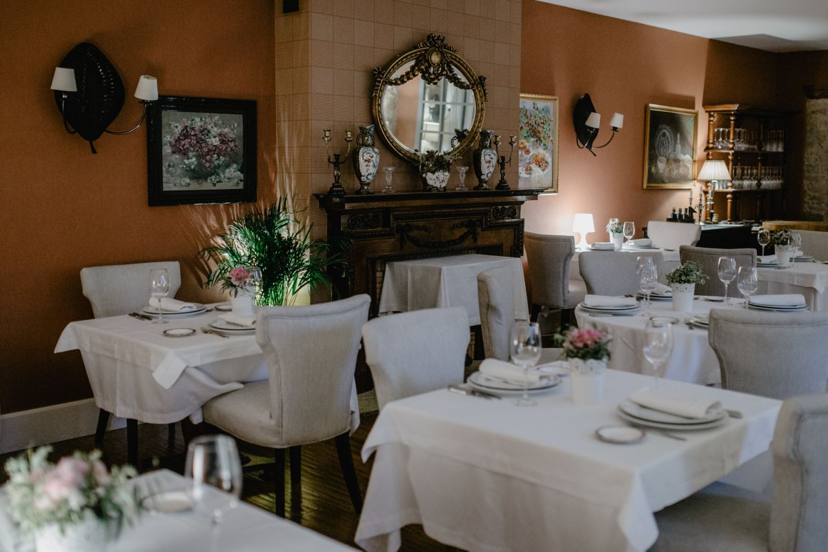 La sala del restaurante 'Filigrana'.