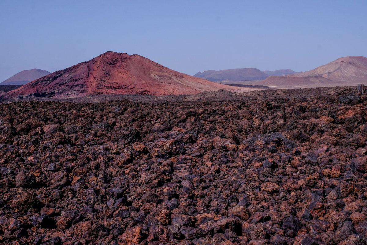 Los volcanes fue lo que más impactó al portugués del paisaje de la isla.