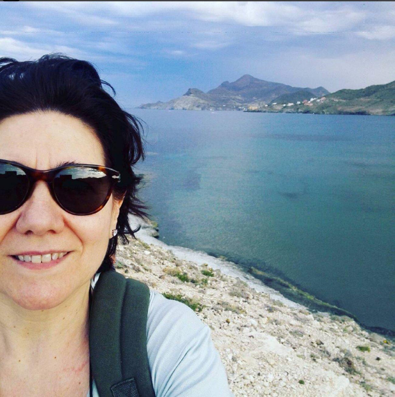 Luisa Martín de viaje en el mar