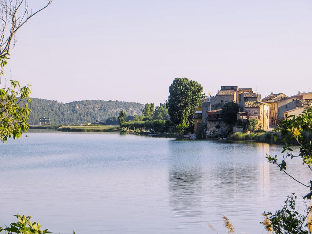 El pantano de Sant Llorenç de Montgai