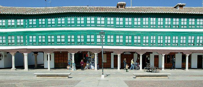 Panorámica de la Plaza Mayor de Almagro.