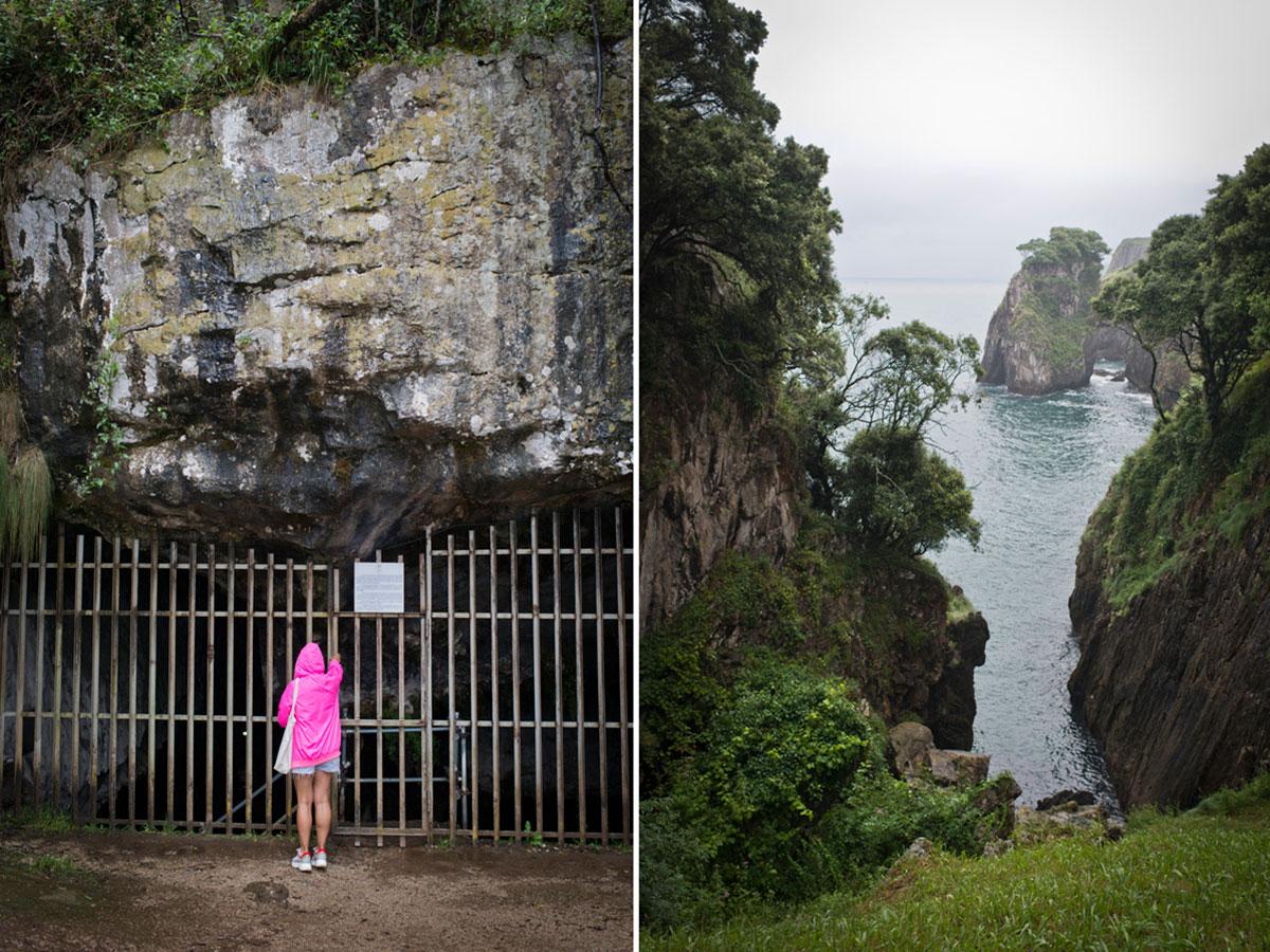 La Cueva prehistórica de El Pindal (hay que pedir hora) y su paisaje. Foto: Sofía Moro.