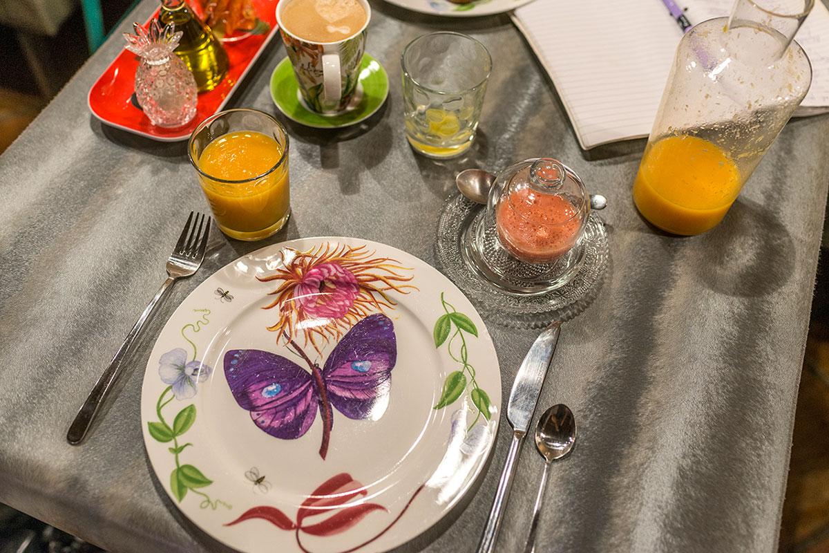 Los desayunos son naturales, con productos de la zona y variados.