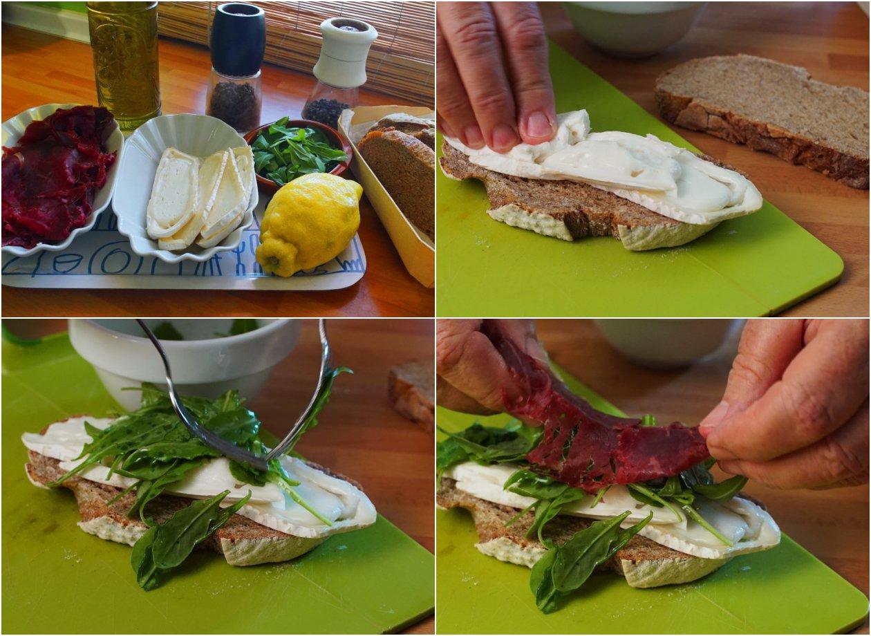 Sándwich de cecina (proceso de elaboración)
