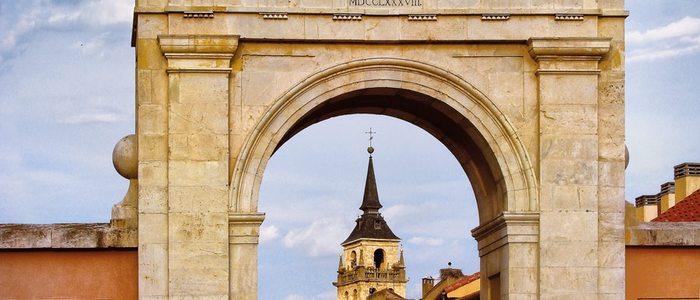 Puerta de Madrid, en Alcalá de Henares.
